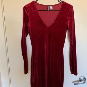 Red velvet holiday dress